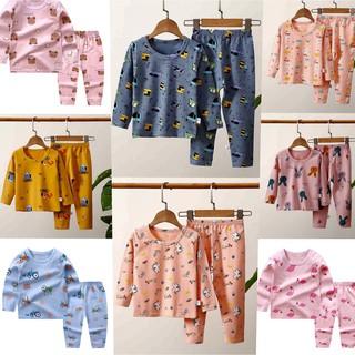 Bộ quần áo dài tay chất xuất hàn họa tiết cao cấp cho bé 8-24kg