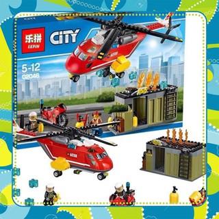 [Siêu-Rẻ] Lego city Urban 02048- máy bay trực thăng cứu hoả
