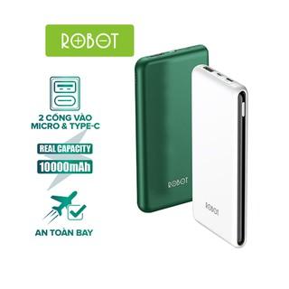 Pin Sạc Dự Phòng 10000mAh ROBOT RT180 – 1 Output USB & 2 Input Micro USB/ Type-C – BẢO HÀNH 12 THÁNG 1 ĐỔI 1