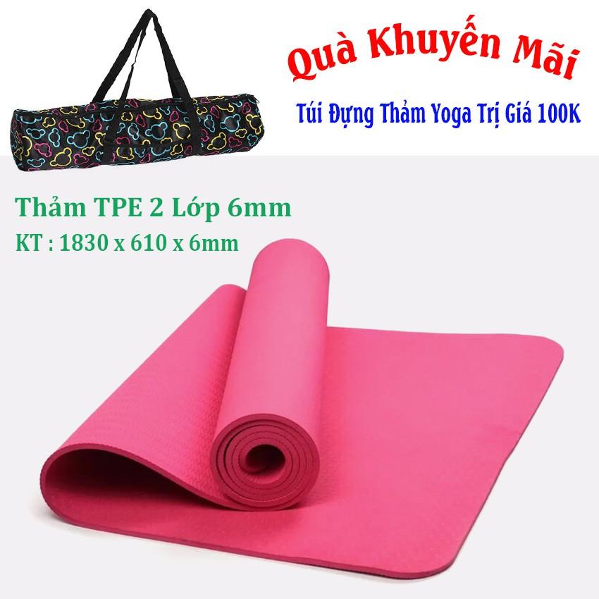 [Free Ship] Thảm Tập Yoga 1 Lớp TPE Cao Cấp + Túi Đựng Thảm (Hồng Đậm) - 3225121 , 1069530384 , 322_1069530384 , 334000 , Free-Ship-Tham-Tap-Yoga-1-Lop-TPE-Cao-Cap-Tui-Dung-Tham-Hong-Dam-322_1069530384 , shopee.vn , [Free Ship] Thảm Tập Yoga 1 Lớp TPE Cao Cấp + Túi Đựng Thảm (Hồng Đậm)