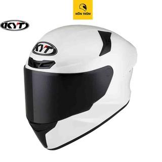 Nón bảo hiểm fullface KYT TT Course màu trắng bóng chính hãng