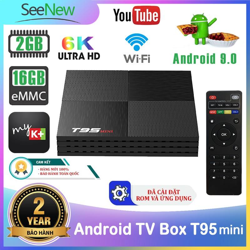 SeeNew Trình phát thông minh Android 9.0 T95 mini mới Allwinner H6 Bộ nhớ 2G Flash 16G Ultra HD 6K Smart TV Box