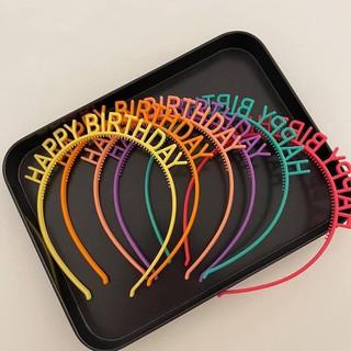 Bờm cài tóc chữ Sinh nhật [Happybirthday] bằng nhựa hot trend