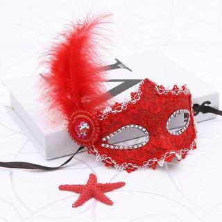 SK-mặt nạ lông vũ có đèn-( MK3) thị