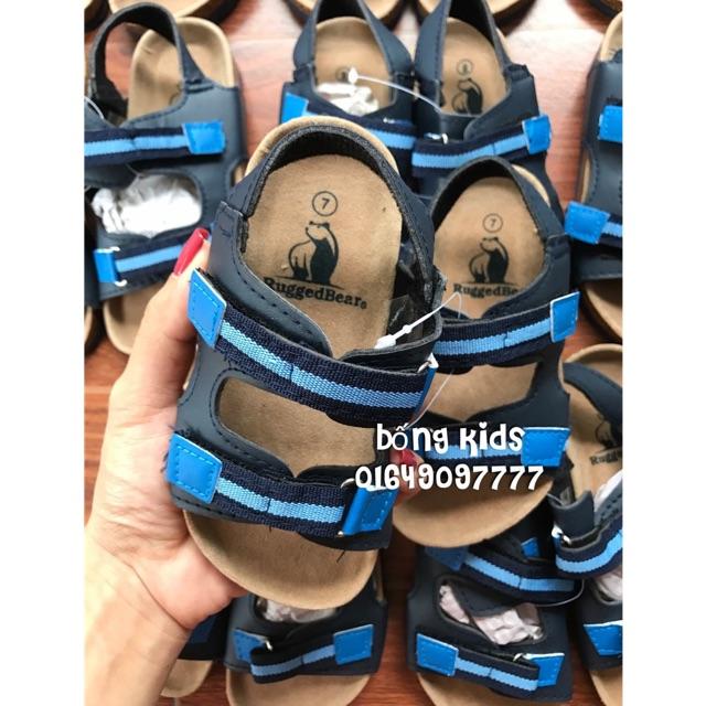 Sandal Bé Trai Quai Kaki Navy/Blue RuggedBear