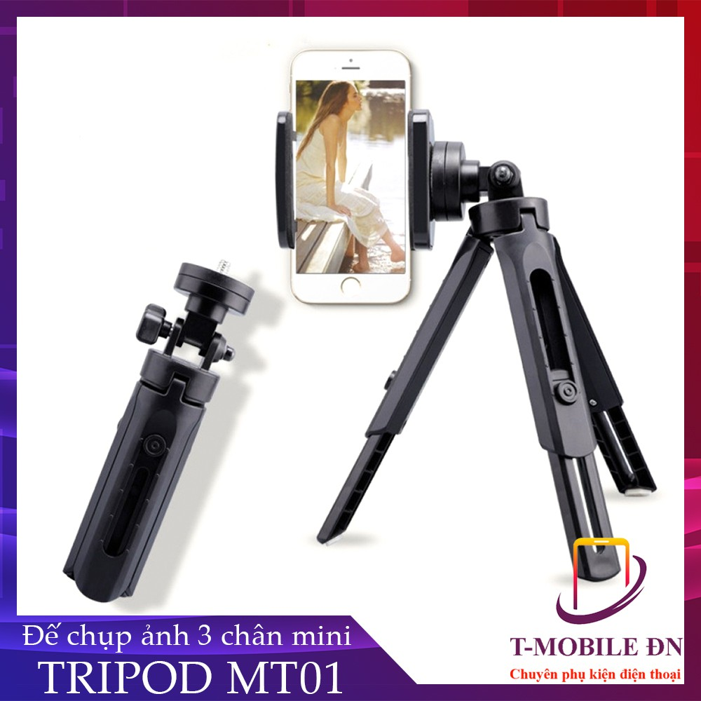 Đế chụp hình Cao cấp Tripod Support MT01 Mini