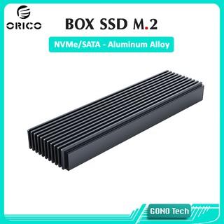 Box SSD M2 NVMe/SATA Orico M2PJ M2PJM-C3 | Chuyển SSD M.2 PCIe/NGFF to USB Type-C làm ổ cứng di động