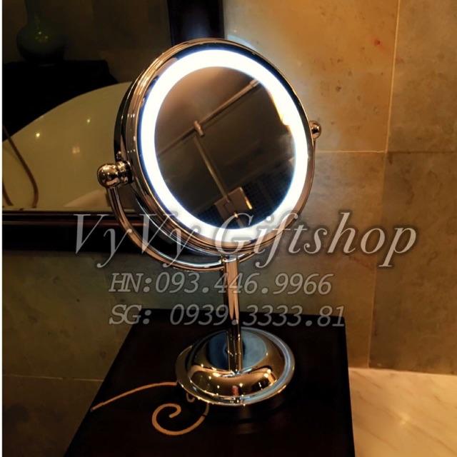 Gương led 2 mặt 15cm