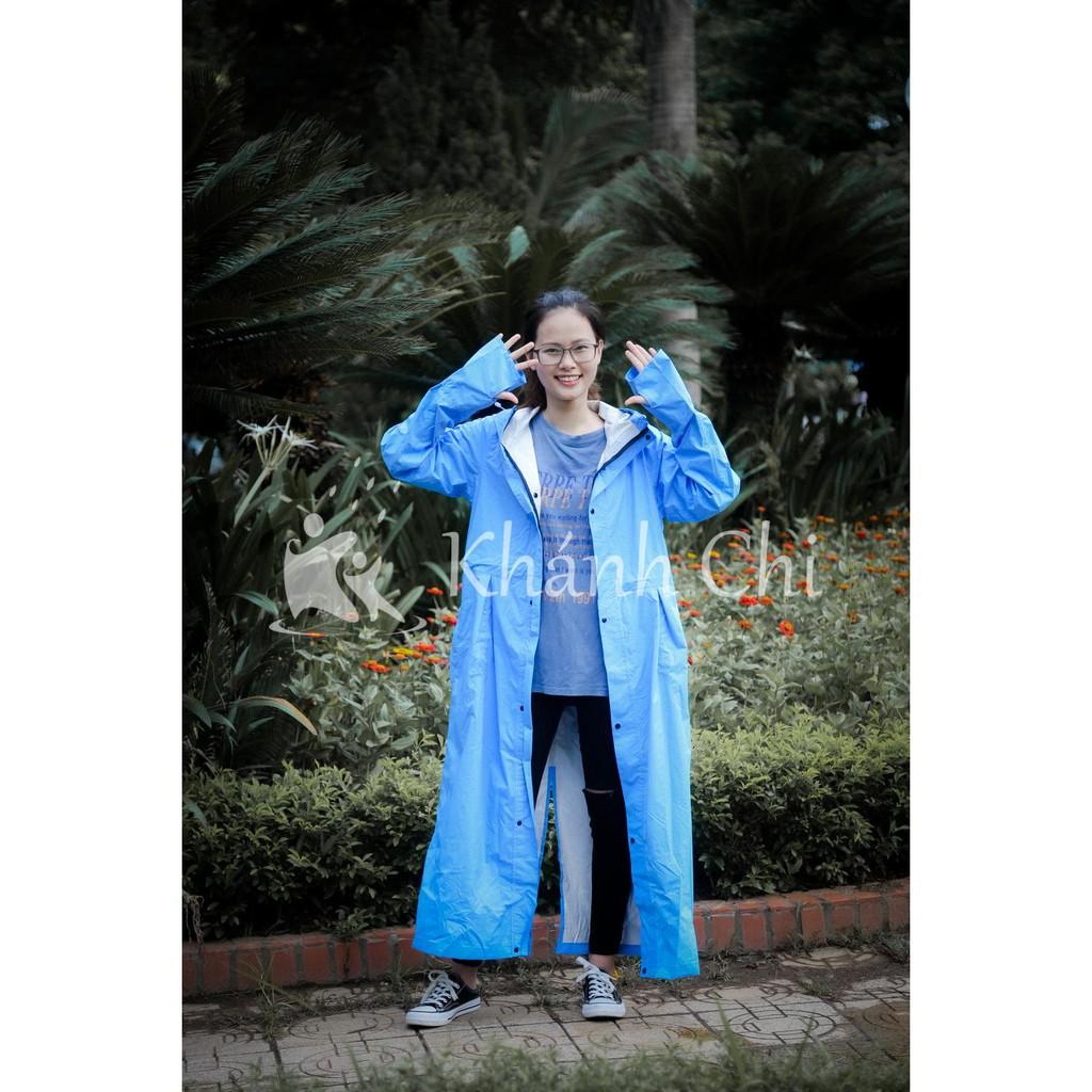 Áo mưa măng tô có khóa siêu nhẹ siêu đẹp - chống thấm nước cực tốt