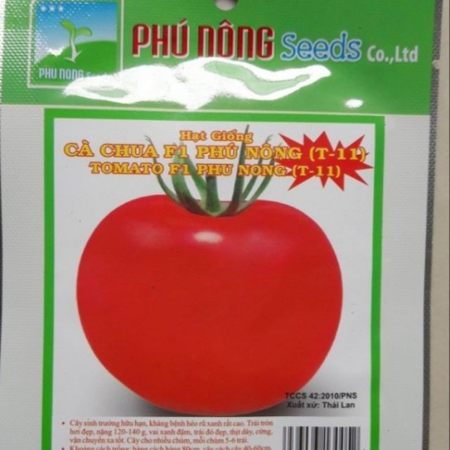 HAT GIONG Cà chua F1 Phú Nông (T-11) 0.1gr CHẤT LƯỢNG CAO