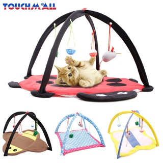 TM Pet Bed Tent Activity Cat Play Mat With Dangle Foldable Soft Pet Toys