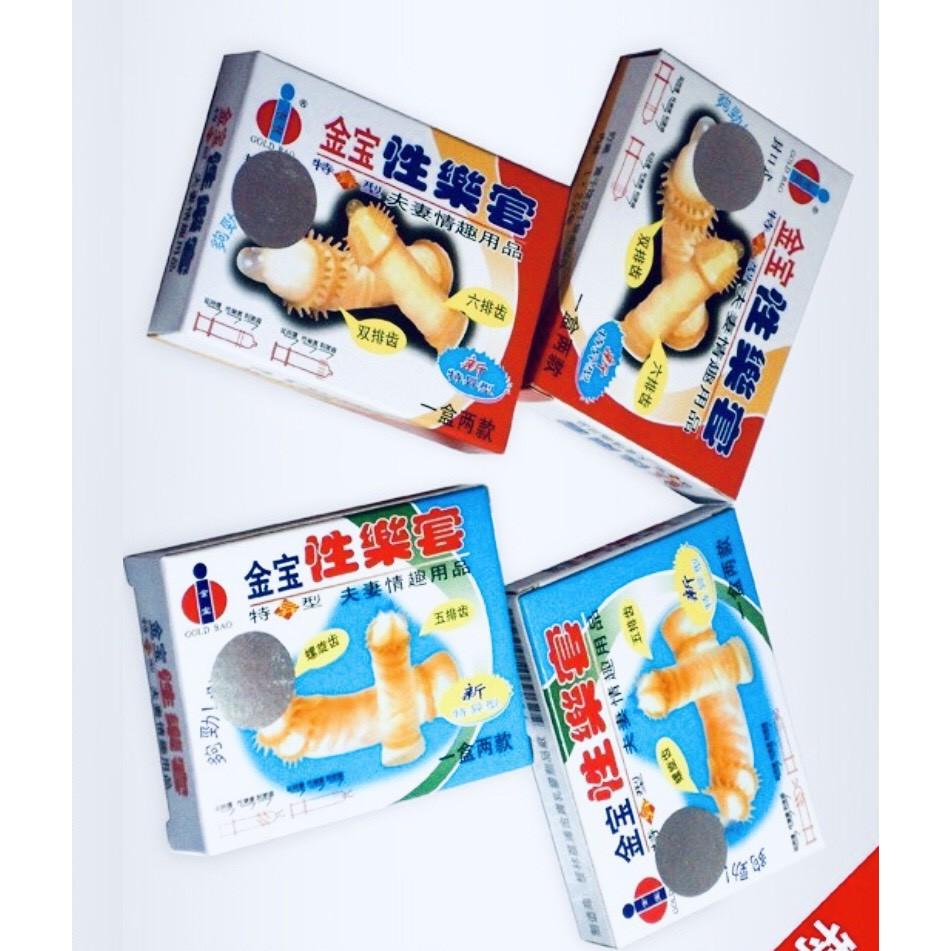 Bao Cao Su Gân Gai Gold - Hộp 2 Cái