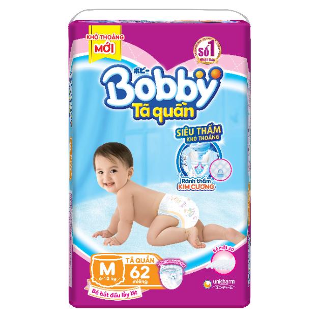 [Toàn quốc][Đủ size] Tã quần Bobby siêu thoáng M60/M62/L54/XL48/XXL44