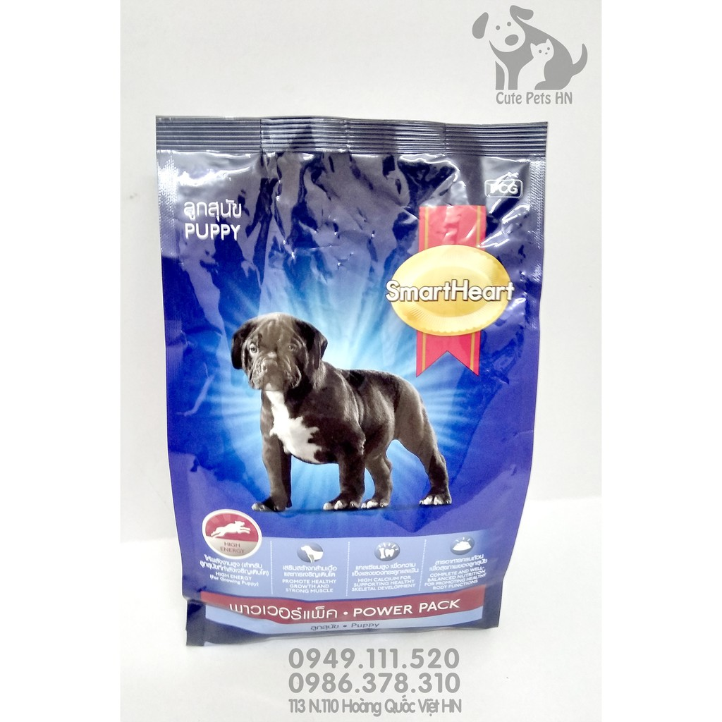 Thức ăn Smart Heart Power Pack Puppy 1kg Dành cho chó con dưới 1 năm tuổi - CutePets