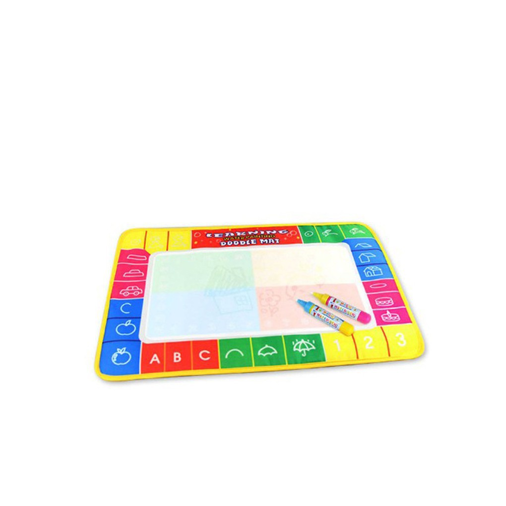 4 Colors Letters Pattern Edge Water Canvas Magic Graffiti Mat Toys for Kids