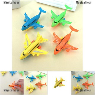 Magicalhour 2Pcs Durable Air Bus Airplane Model Toy Pull Back Planes Kids Vehicles Gift