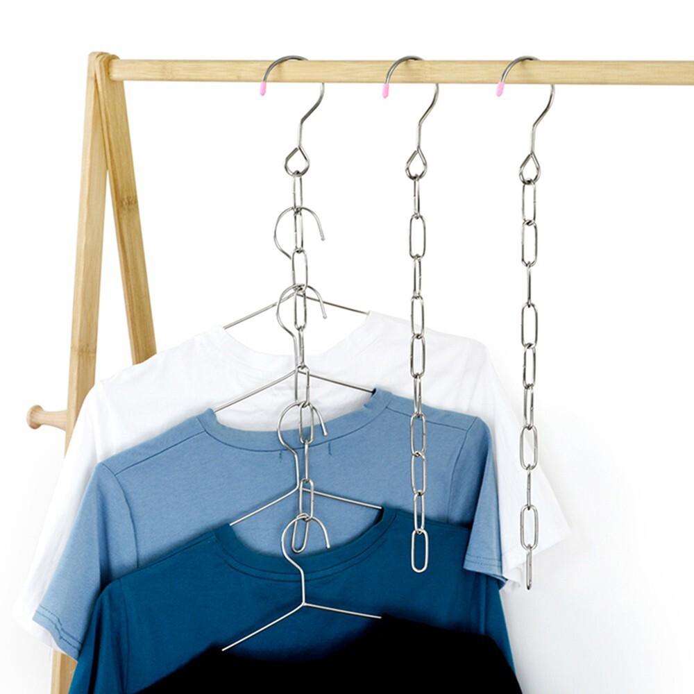 Dây xích móc treo quần áo - Dây xích inox treo quần áo - Tiết kiệm 90% diện tích