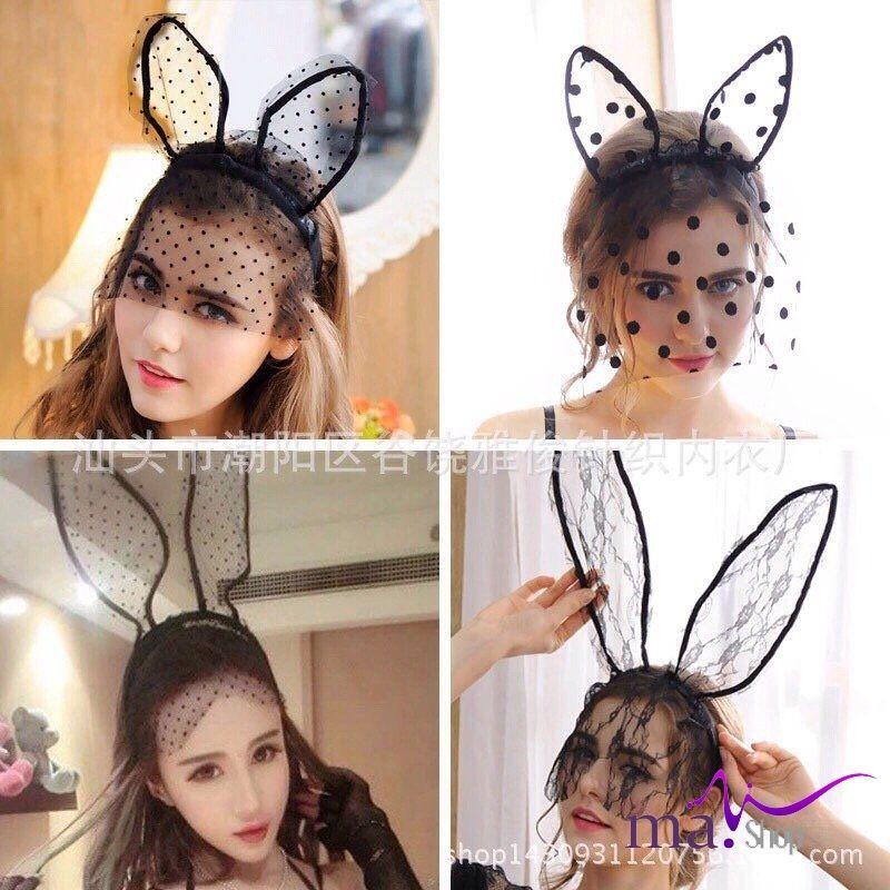 Tai thỏ Ariana Grande ren có đèn sexy