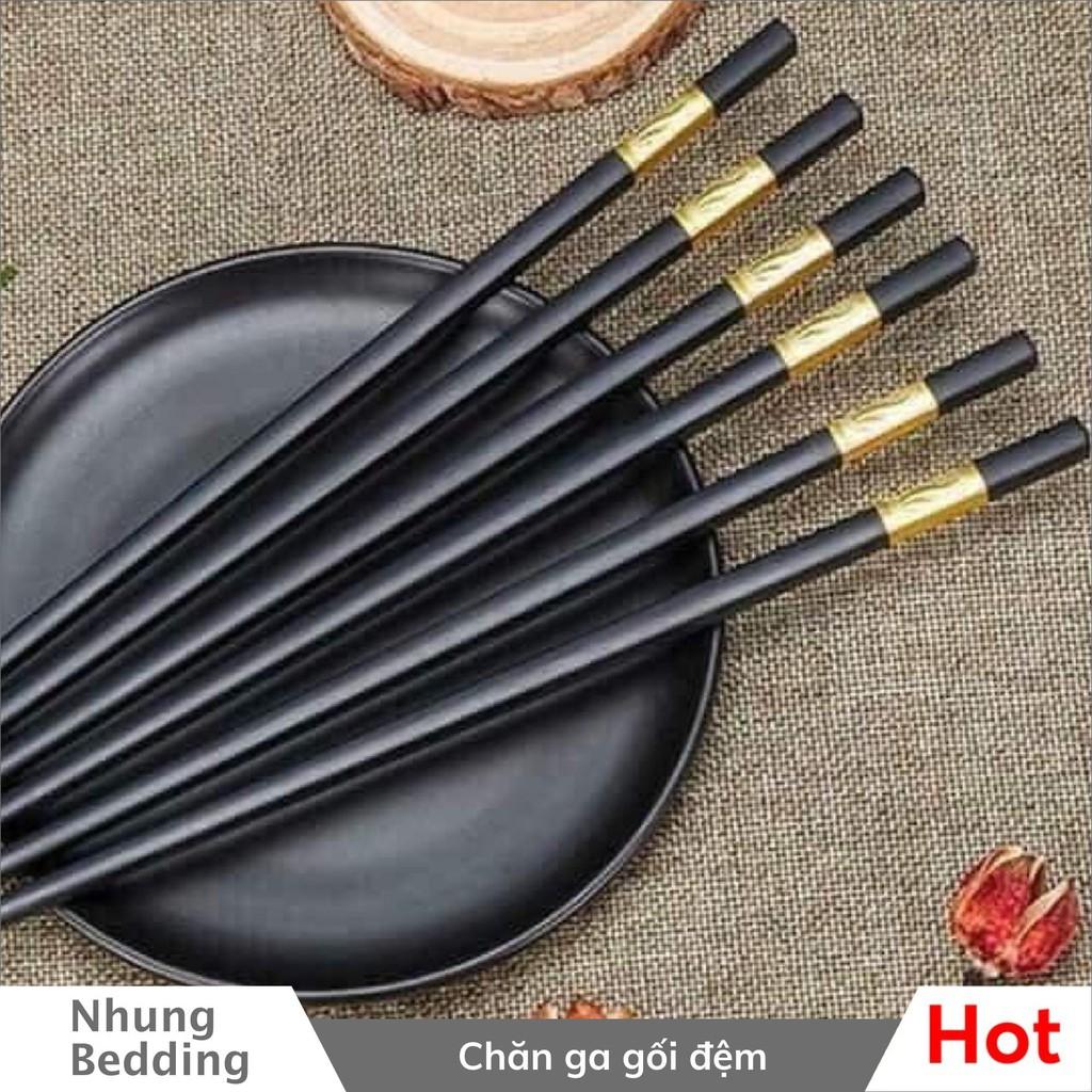 Set Đũa Mạ Vàng Sang Trọng Tinh Tế - Đũa ăn đẹp, sang trọng Đồ dùng phòng bếp