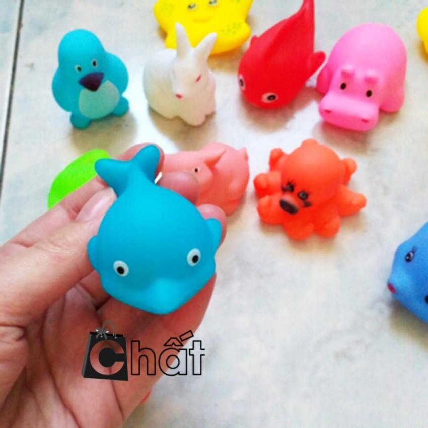 Bộ đồ chơi 10 con sinh vật biển phát tiếng kêu thả bồn tắm cho bé