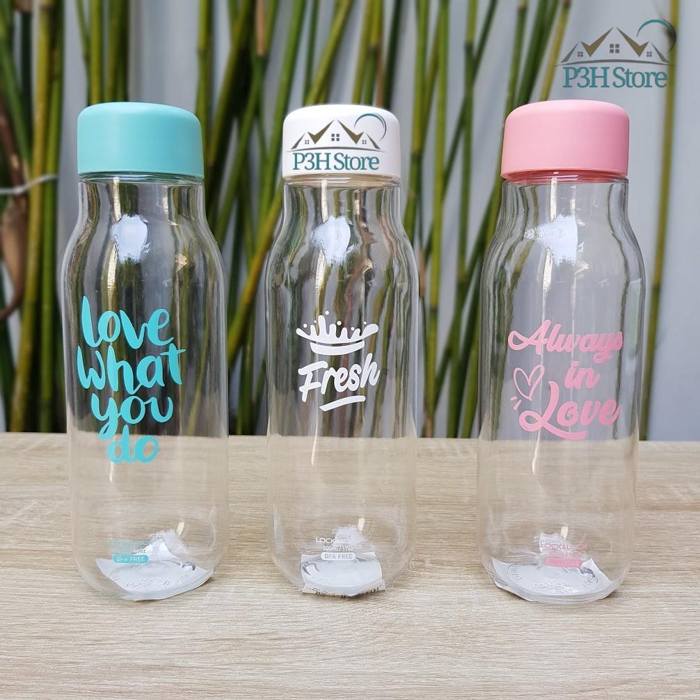 Bình nước Lock&Lock Milky dung tích 500ml nhựa PET BPA Free HAP654