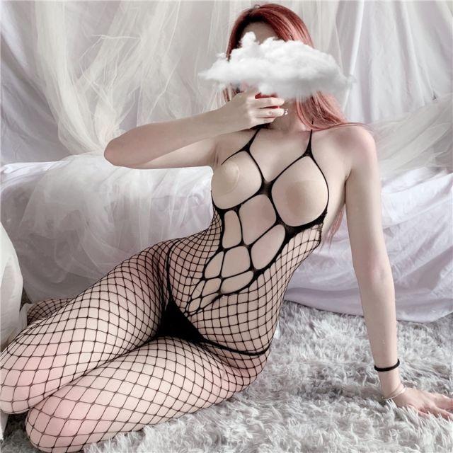 [Mã WASEPRN hoàn 20% xu đơn 99k] Đồ ngủ sexy Tất lưới liền thân cosplay gợi cảm