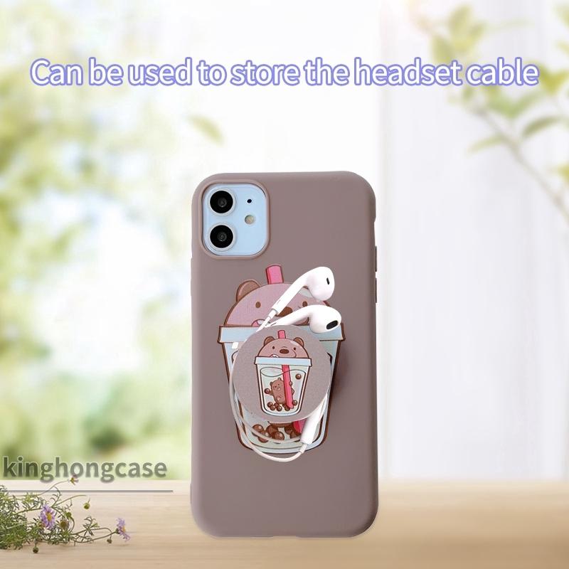 Giá đỡ điện thoại bằng nhựa silicone in hình hoạt hình 3D dễ thương