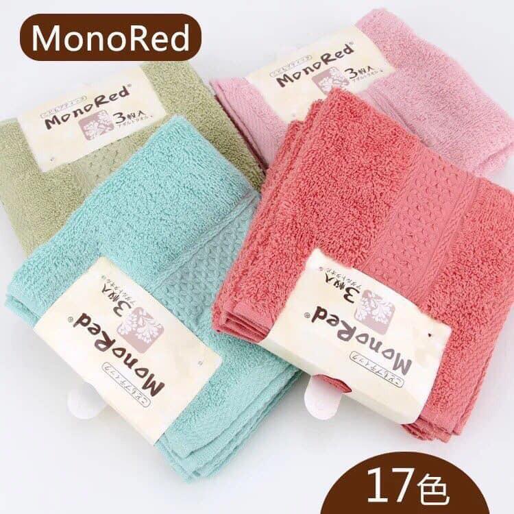 Set 3 khăn mặt Monored Nhật Bản