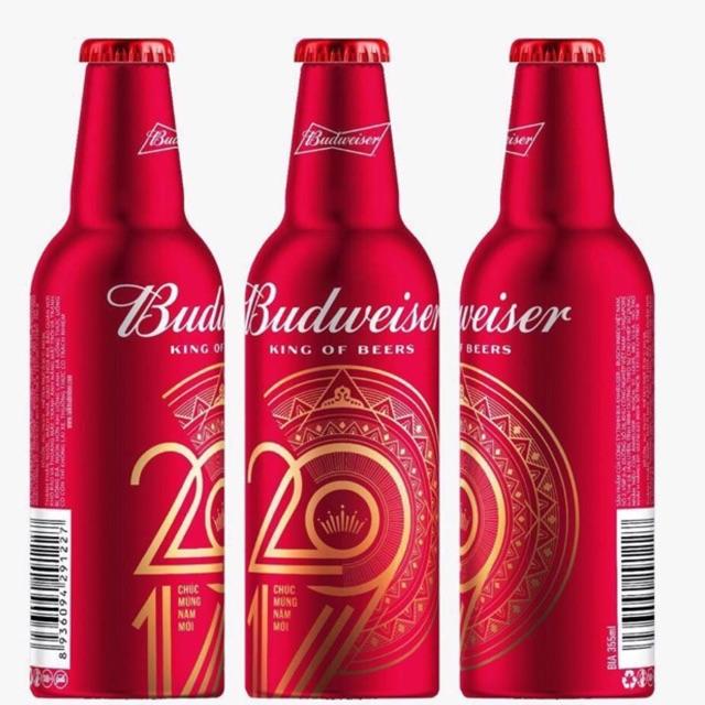 Bia Budweiser chai nhôm 2019 có khuyến mại