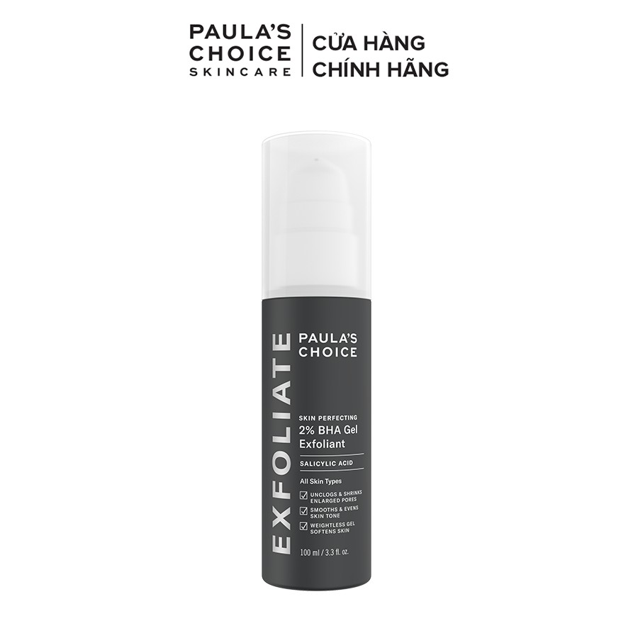 Gel loại bỏ tế bào chết Paula's Choice Skin Perfecting 2% BHA Gel Exfoliant 100ml 2040