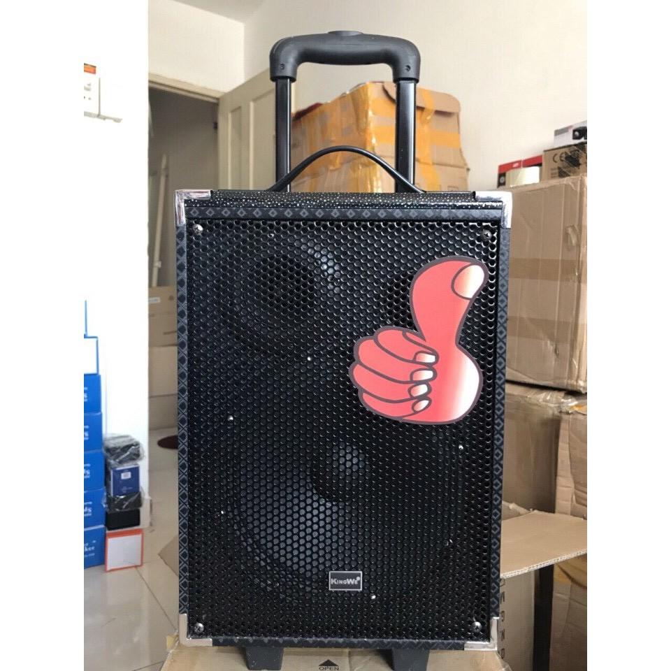 [Nhập mã GHNGIZEND giảm 30k] Loa bluetooth karaoke xách tay Kingwe Q8 tặng 1 mic ko dây