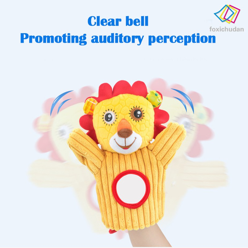 [FCD] Stuffed Animal Activity Puppet Soft Plush Polyester Fabric With Mirror for Kids Parents