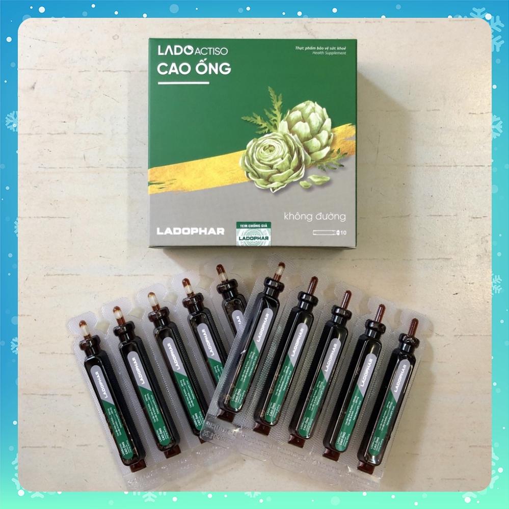 Atiso cao ống uống KHÔNG ĐƯỜNG Ladophar hộp 10 tuýp x 10ml Actiso Đ