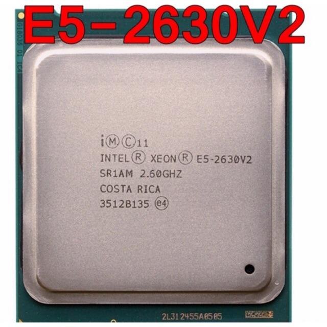 Intel Xeon E5-2630 v2 (2.6GHz up 3.1GHz, 15MB L3 cache, LGA2011, 80 Watt) Giá chỉ 950.000₫