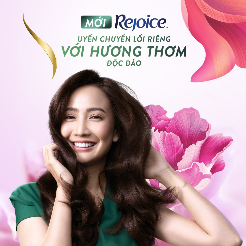 Dầu gội Rejoice nước hoa 875,5ML - Hoa mẫu