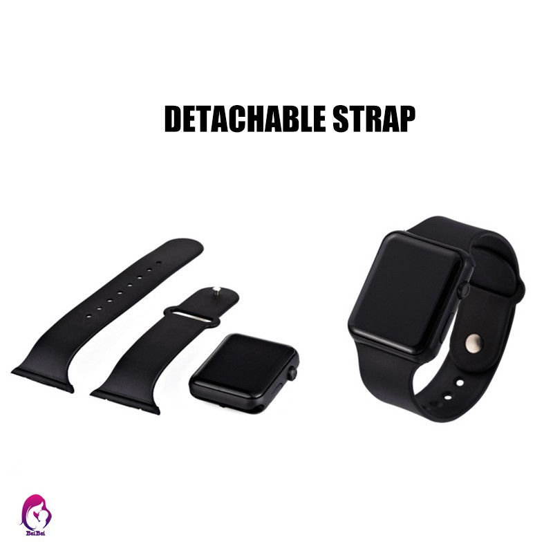 【Hàng mới về】 LED Electroplating Square Electronic Sports Watch Adjustable Wrist Band Unisex