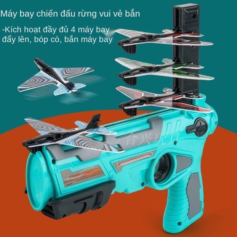 Súng Bắn Máy Bay Air Battle Cho Bé, Đồ Chơi Phóng Máy Bay Lượn Mô Hình