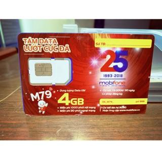 Phôi SIM trắng 4G MobiFone (Tự thay SIM tại nhà)