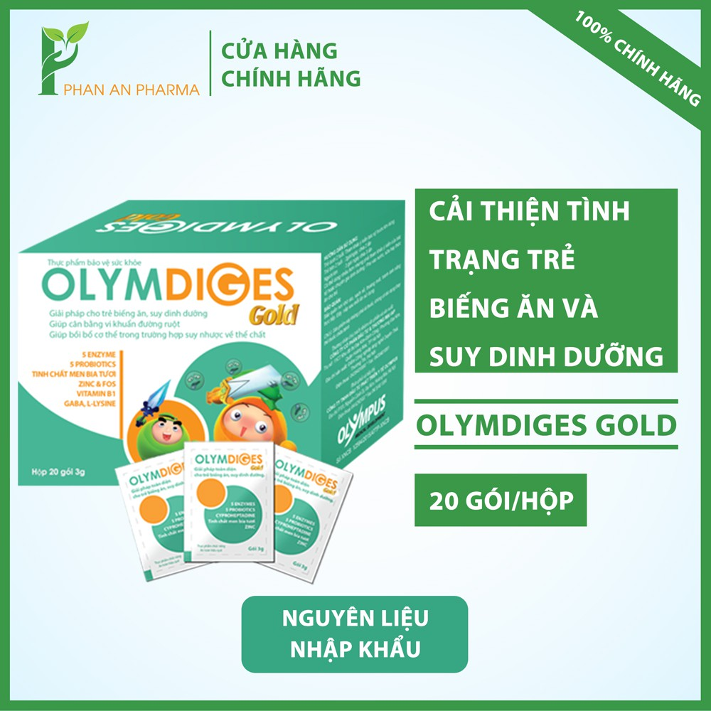 Olymdiges Gold cải thiện biếng ăn suy dinh dưỡng sau 1 đợt sử dụng - CN26
