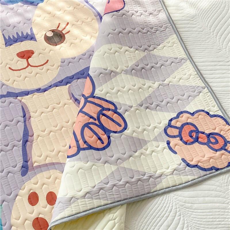 Chiếu cao su non 5D - Chiếu Điều Hòa họa tiết thỏ gấu
