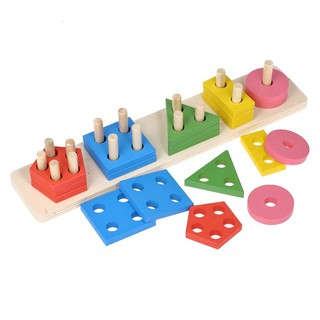 Đồ chơi giáo dục sớm Xếp gỗ toán học thông minh cho bé