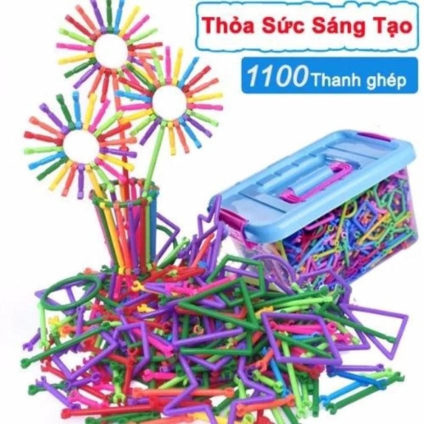 Bộ lắp ghép đồ chơi sáng tạo (1100 Thanh ghép) | TẠI TỪ LIÊM