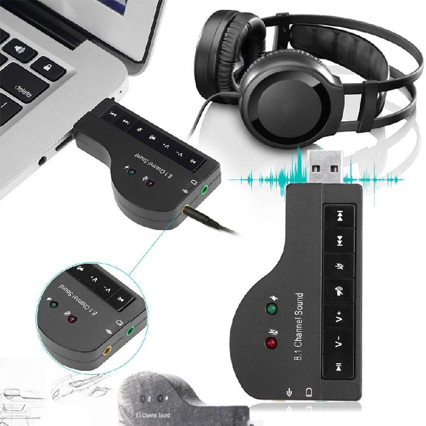 Usb Sound 8.1 cho máy tính âm thanh 3D cực sống động