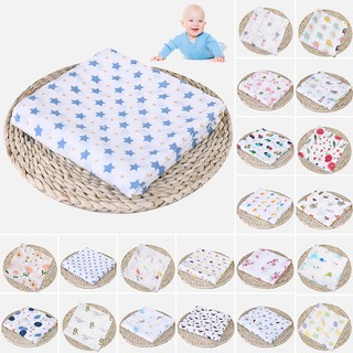 FUN❤Newborn Baby Soft Cute Cartoon Cotton Yarn Summer Wrapping Blanket Bathing Towel