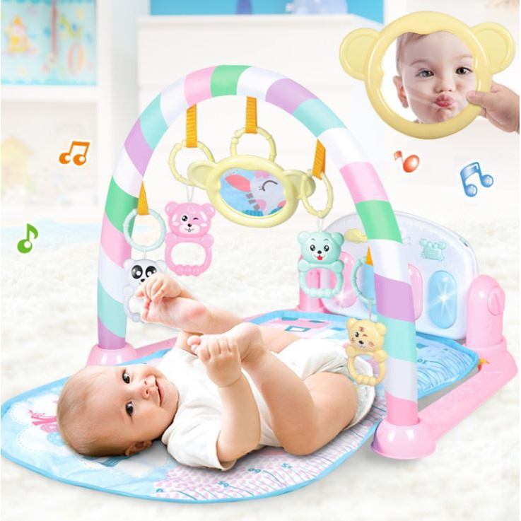 Giá thể dục cho bé xuất khẩu,chân đệm đồ chơi nhạc piano, chăn nam nữ đồ chơi trẻ em 0-1 tuổi 3-12 tháng