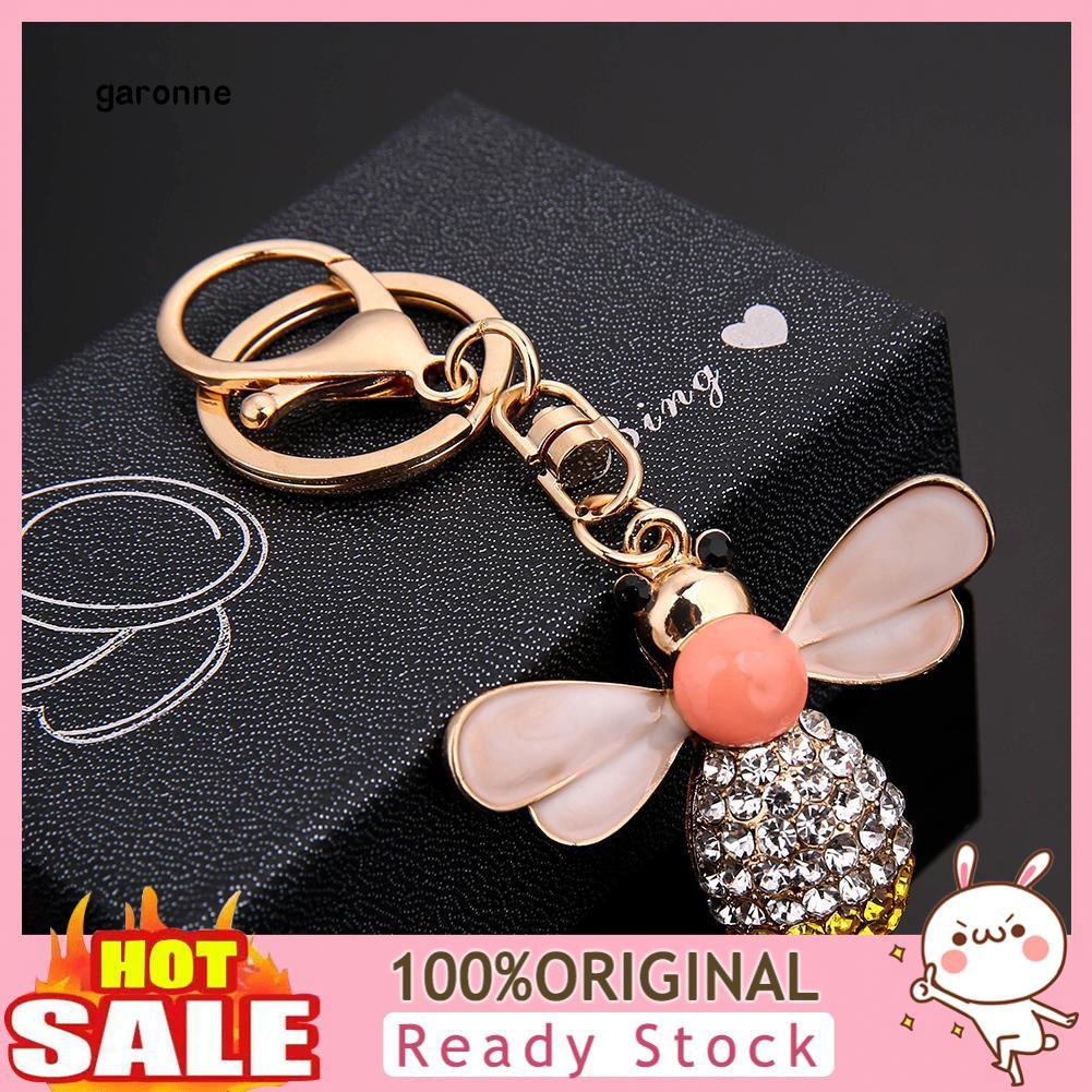 Móc khóa mặt con ong đính đá phong cách thanh lịch dành cho nữ