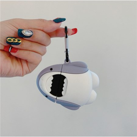 Vỏ Ốp Case Airpod Airpods bảo vệ bao đựng tai nghe không dây bluetooth hình cá mập Lovely Shark Pro/2/i12/tws - Lala17