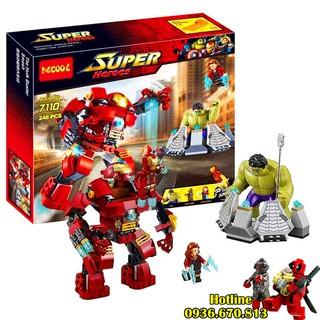 Lego Super Heroes Marvel 7110 Người Sắt Và Khổng Lồ Xanh Nổi Giận. Gồm 248 chi tiết. Lego Ninjago Lắp Ráp Đồ Chơi Cho Bé