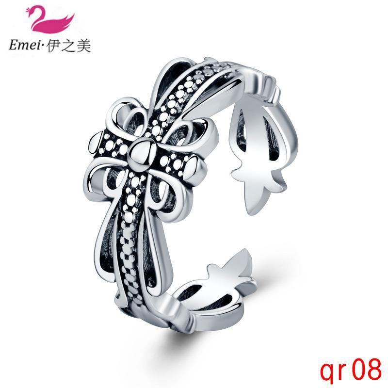 แหวนแฟชั่นเงินไทยผู้ชายเครื่องประดับสร้างสรรค์และหญิง