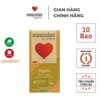 Bao cao su Masculan Organic - Hữu cơ - Siêu mỏng - An toàn - Mang lại cảm giác chân thật - Hộp 10 bao thumbnail